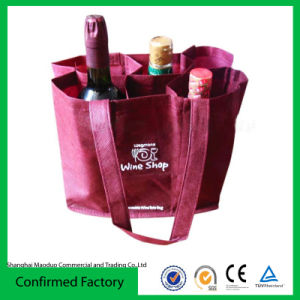 New Bottle Gift Bag - Wine Carry Birthday Wedding - Non Woven Carrier Holder (MD-AD-1043)