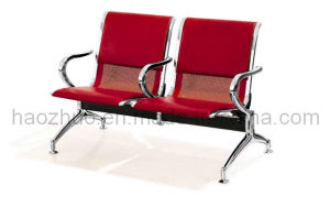 Airport Chair 2 Seater - Half Upholstered Red (CR-P02)