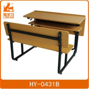 Student Furniture/Double School Table and Chairs Set pictures & photos