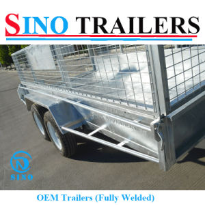 45X45mm Cable Disc Brake Dual Axle Tandem Trailer with Cage pictures & photos