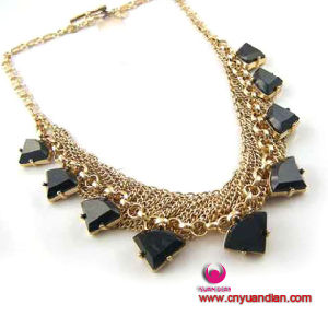 Black Stones Charms Handmade Quality Jewerlry Necklace