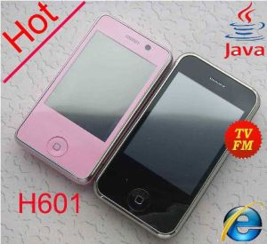 TV Mobile Phone Quad Band Dual SIM Cards Flash Light for Camera (H601)