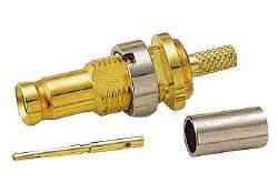 Crimp Attachment for Flexible Cable-(Straight Bulkhead Jack)-(1.0/2.3 Series)