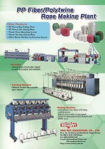 Catalogue of PP Fiber/Polytwine Rope Making Plant pictures & photos