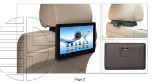 "10.1"" Universal Android Car Pad Seat Back Headrest Monitor Supporting WiFi/HDMI Output pictures & photos"