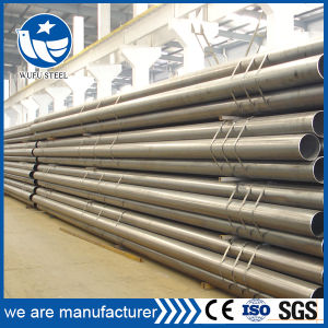 Directly Selling Carbon Black Welded Steel Round Pipe pictures & photos