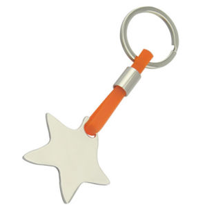 Zinc Alloy Star Shape Key Holder with Silicone (F1077A)