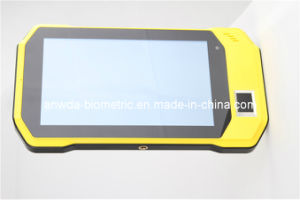 "7""Fingerprint Handheld Terminal with 2d Barcode Scanner, RFID Reader"