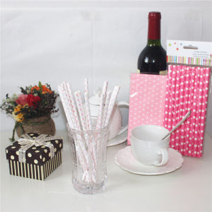 Colorful Party Paper Drinking Straws for Wedding pictures & photos