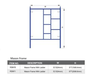 Powder Coated Color Scaffolding Mason Frames pictures & photos