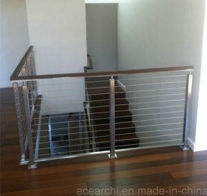 Stainless steel wire balustrade systems