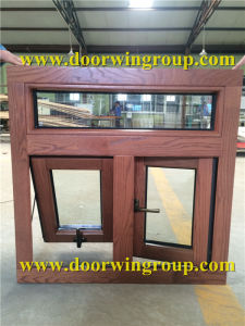 European Most Popular Outward Opening Window, Solid Oak Wood Aluminum Awning/Casement Windows pictures & photos