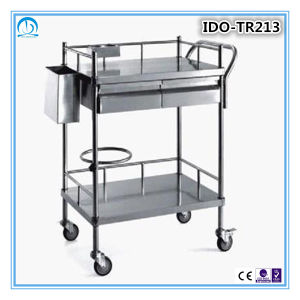 Stainless Steel Medical Dressing Trolley pictures & photos