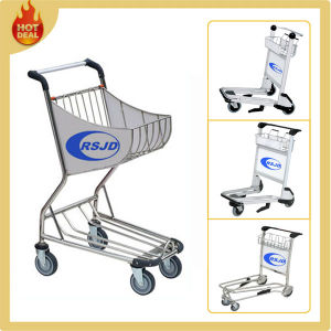 4 Wheels Aluminum Alloy Hand Airport Shopping Trolley (BW3) pictures & photos