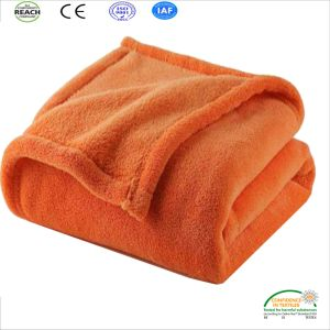 Bright Orange Color Home Bed Cover Blanket pictures & photos