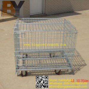 Cage Storage Box Metal Rock Wire Mesh Roll Container pictures & photos