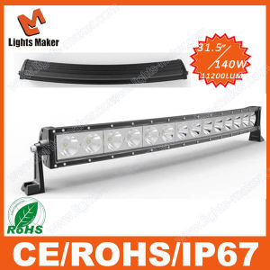 Hot Sell 4X4 LED Light Bar Arch, 140W Bent Light Bar Offroad, Curved LED Light Bar 140W for Auto Lighting SUV Military Agricultur