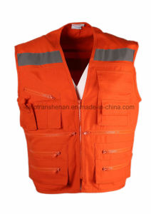 Vest Multi-Pocket Vest 100% Polyester pictures & photos