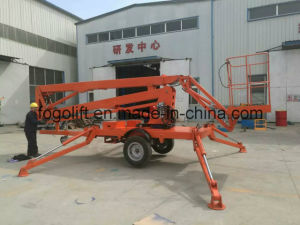Hydraulic Articulated Mounted Boom Trailer Aerial Working Lift 10m pictures & photos