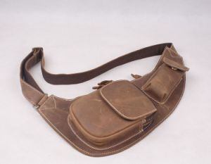 Top Layer Cow Leather Waist Bag pictures & photos