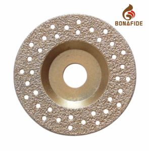Hot Sale! ! High Good Quality Vacuum Brazed Diamond Grinding Whee pictures & photos