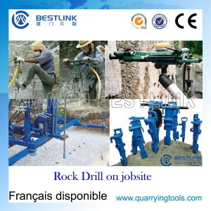 Portable Powerful Pneumatic Rock Drill for Vertical Wet&Dry Drilling pictures & photos