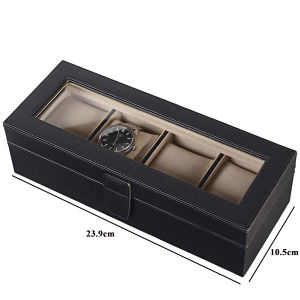 High End Custom Plain PU Leather 5 Slots Watch Storage Box pictures & photos