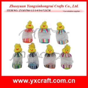 Easter Decoration (ZY16Y766-1-2-3-4-5-6-7) Easter Chick Organza Bag pictures & photos