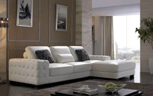 Design Corne Sofa Leather L Shaped Sofa pictures & photos