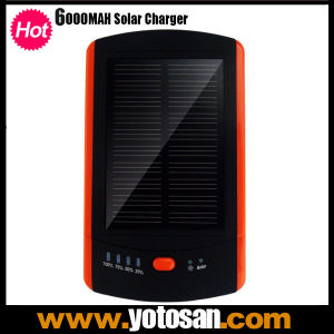 6000mAh Solar Panel Portable Charger External Battery Pack for Cell Phone Mobile