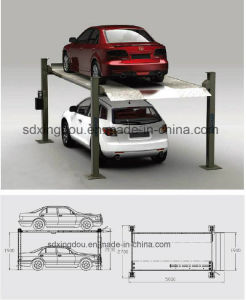 Four Post Car Packing Lift/Parking Lift Hydraulic pictures & photos