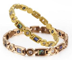 Abalone Shell + Zircon Titanium Health Care Energy Bracelet pictures & photos
