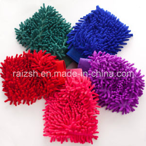 Chenille Washing Mitt Sided Coral Fleece pictures & photos