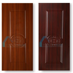 HDF Mould Door Skin with Wood Grain Melamine Paper pictures & photos