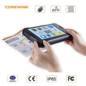 Handheld Andorid Tablet PC PDA with Fingerprint Sensor NFC and Barcode Scanner pictures & photos