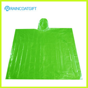 Promotional Green PE Rain Poncho (Rpe-095) pictures & photos