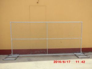 6FT X 12FT Mesh 60mm X 60mm X 2.7mm Hot Dipped Galvanized Z275 Chain Link Temporary Fence pictures & photos