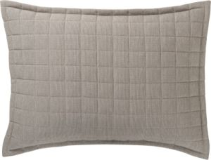 Solid Colour Quilted Pillow Sham