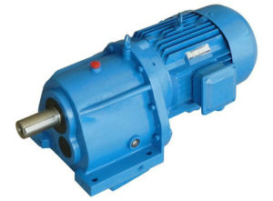 R Series Solid Shaft Helical Reducer Geared Motor