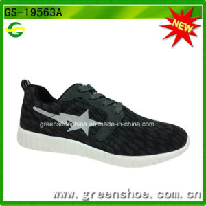 High-Quality Black Fitness Breathable Footwear Men Sport Shoes pictures & photos
