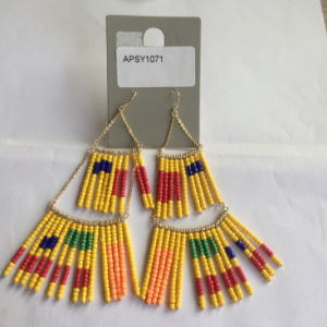 Long Beads Earrings with Metal Tassel Fashion Jewelry pictures & photos
