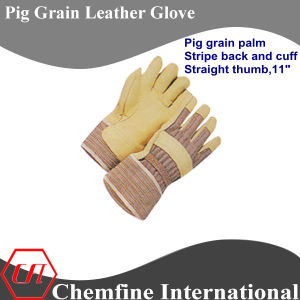 Straight Thumb, Pig Grain Full Palm, Pig Leather Work Gloves pictures & photos