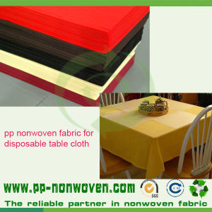 PP Spunbond Non Woven Table Cover Fabric pictures & photos