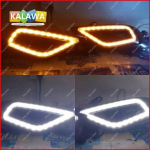 One Pair Specialized Daytime Running Lights Fit for Hon. Da Jade High Brightness LED DRL Modification (with Yellow Turn Light^Jmq