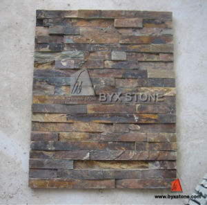 Natural Rusty Yellow Slate for Wall Cladding Decoration pictures & photos