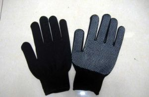 PVC Dotted Work Gloves, Industrial Gloves, Safety Glove pictures & photos