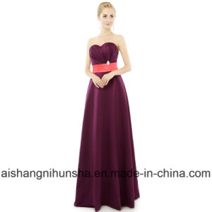 Bridesmaid Dresses Floor Length Long A-Line Sweetheart Wedding Party Dress pictures & photos