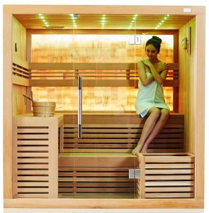 2016 China Sauna Manufacturer New Light Jade Wall Dry Sauna House (M-6055) pictures & photos