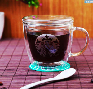 Double Wall Printing Glass Starbuck Coffee Mug Coffee Cup pictures & photos