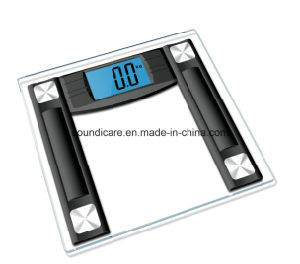 Digital Glass Bathroom Scale with Blue Backlit (B222) pictures & photos
